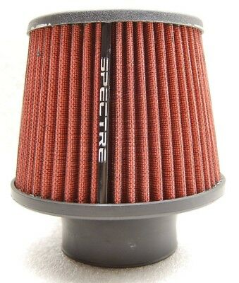 """SPECTRE 9132 Performance Cone Cold Air Intake Red Filter Clamp On 3"""" 76 mm tube"""