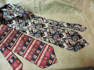 Lot of 2 Cocktail Collection BEER & SCOTCH 100% Silk Neck Tie By Stonehenge USA