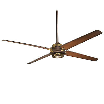 "George Kovacs 60"" 4-Blade LED Ceiling Fan Oil Rubbed Bronze/Antique Brass Finish"
