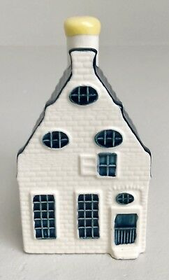 KLM Airlines Bols Blue Dutch Canal House Bottle by Delft Sealed #39 Distillery