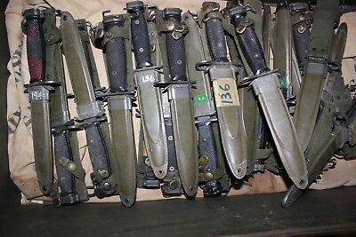 BOC M7 US Military Issue Fighting Knife USMC Army with M8A1 Scabbard  SALE