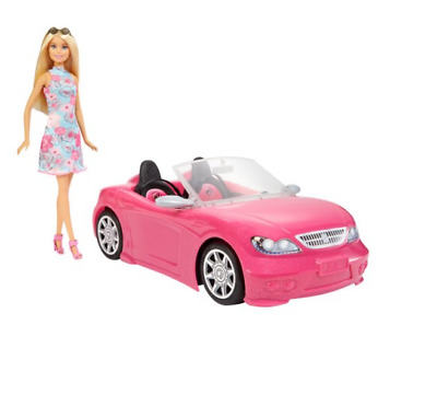 Barbie Convertible Car And Doll Set Kids Play Girls Ride With Barbie Toys NEW