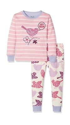 Hatley Girl's Long Sleeve Appliqué Pyjama Pink (Birds of a Feather) AGE 7 PJS