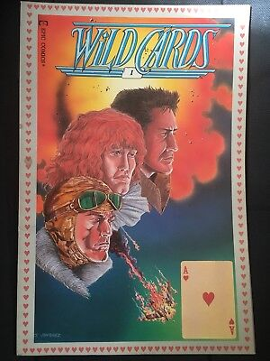 WILD CARDS COMIC BOOK - FIRST Issue #1, VOL 1 - EPIC COMICS - SEPT 1990