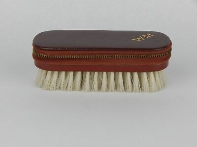 Vintage Travel Grooming Kit WM Leather Case Made in Austria