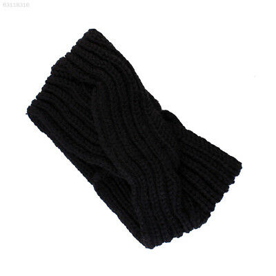 E34C Crochet 7 Colors Creative Woolen Headband Knitted Turban Winter Turban