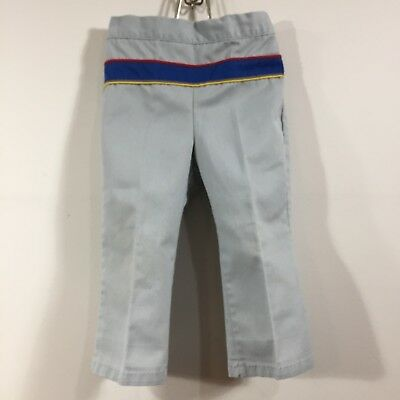 Toddler Boys Vintage Cotton Pants Donmoor Gray Western Stripe Size 3T