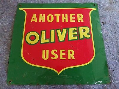Oliver Embossed Tin Sign Farm Tractor White Minneapolis Moline Oil Gas Barn Art