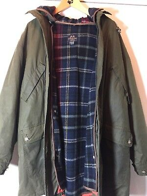 Mens M Willis & Geiger  wax  wool lined hooded hunting jacket 3 in 1