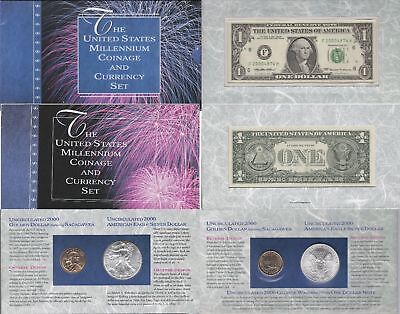 2000 Millennium Coin And Currency Set OGP W/COA