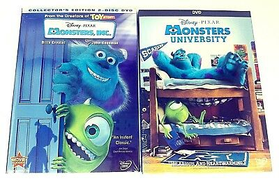 Monsters INC & Monsters University - Disney Pixar 2 DVD Set -NEW! Free Shipping!