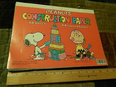 PEANUTS by Charles Schulz [9'' x 12''] ~Construction Paper~ Snoopy_Charlie Brown