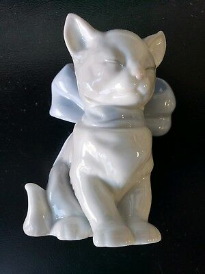 Collectible Hand Made Lladro Nao 1999 Spain Cat Figurin Porcelain # 1348