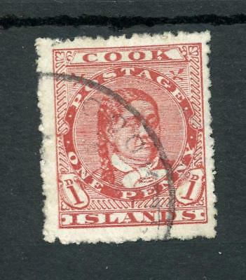 Cook Islands 1913-19 1s carmine SG46 FU cat £110