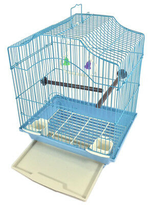 Bird Cage Kit Starter Set for Small Bird - Blue