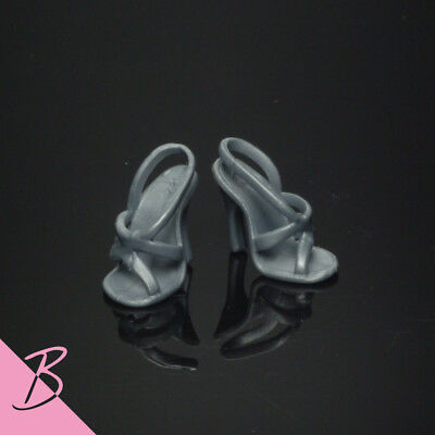 Shoes/Boots Dark Gary Strappy High Heels sandals for Mattel Barbie NEW #0518