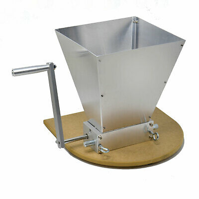 Home Brewing Grain Barley Mill Grinder Malt Crusher 2 Roller with Hopper