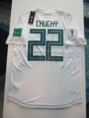 Adidas Chucky Lozano Mexico 2018 World Cup Away Authentic Player Jersey  Patches 532e447dc