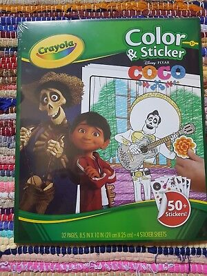Disney/Pixar Coco Crayola 32 Color Pages and 50+ Stickers Movie Characters