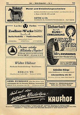 MILITAR WOCHENBLATT - Trade Paper for & by Military Professionals  (24 MAR 39)