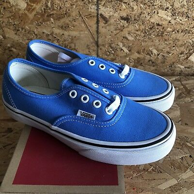 f591585d1eee NEW VANS AUTHENTIC Marina Blue True White Skate Sk8 Shoes Womens 6.5 ...