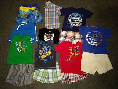 Lot Of Boys Clothes Toddler 24 Months, 14 Pieces, T Shirts, Shorts #314
