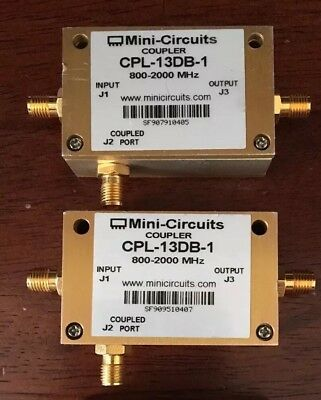 Mini Circuits Directional Coupler CPL-13DB-1 800Mhz-2Ghz SMA50 Ohm USED,2 pieces