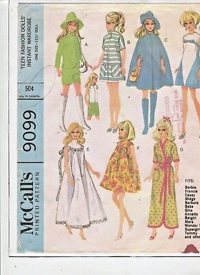 Vintage -1967-Barbie  Doll -  Outstanding Wardrobe Pattern -#7