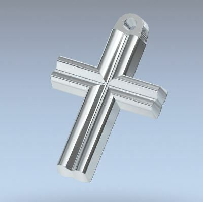 CROSS  Cast Iron Steel Mold  for Casting Gold, Silver, Copper