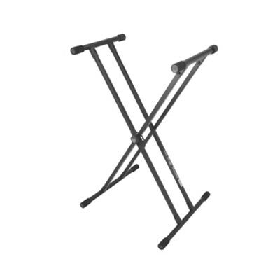 On-Stage Stands KS8191 Lok-Tight Classic Double-X Keyboard Stand + Picks