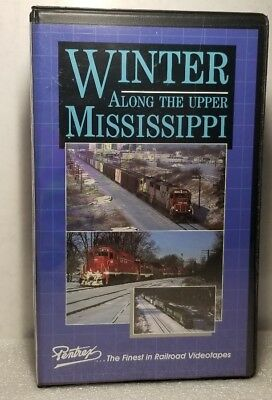 Winter along the Upper Mississippi PENTREX VHS railroad