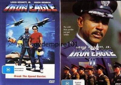 Iron Eagle 1 & II 2 DVD set (2 SEPARATE DVD)New and Sealed Australia All Regions