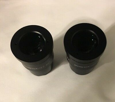 Olympus Whn10X 22 Set Of Eyepieces , Good Condition