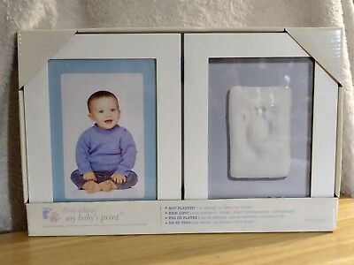 Tiny Ideas Babys Print Hinged Frame No Mixing No Mess Pink Or Blue Pearhead New