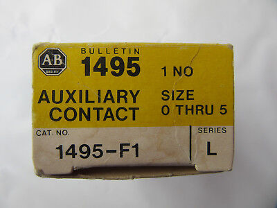 Allen Bradley 1495-F1 Auxiliary Contact 1 NO For Sizes 0 thur 5 NEW!!! in Box