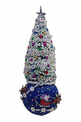 """SATIN BEADED CHRISTMAS ORNAMENT KIT - """"Up, Up, Up, And Away!"""""""