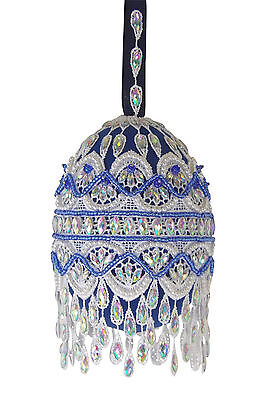 "Satin Beaded Christmas Ornament Kit - ""Frosted Window Panes"""