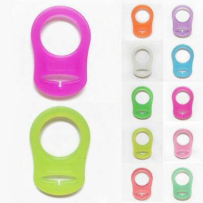 Pacifier Nipple Ring Button Baby MAM Dummy Silicone Holder Clip Adapter 2 Pcs