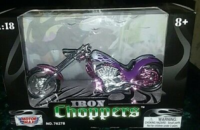 2016 Motor Max Iron Choppers Diecast & Plastic Gorgeous Colors  76278