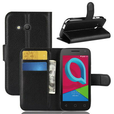 Luxury Magnetic PU Leather Wallet Flip Case Cover for Alcatel U3 3G Smartphone