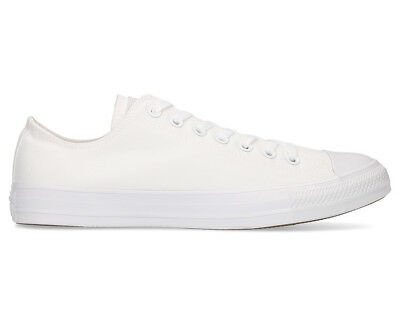 Converse Chuck Taylor Unisex All Star Low Top Shoe - White Monochrome (O4)