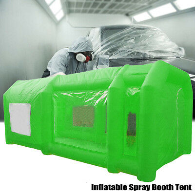 8x4x3m Inflatable Spray Booth Tent Car Paint Booth Workstation Tourism Green