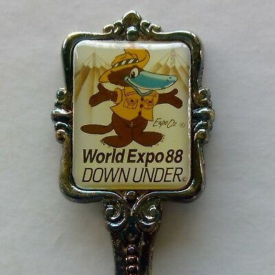 World Expo 88 Down Under Souvenir Spoon Teaspoon (T182)