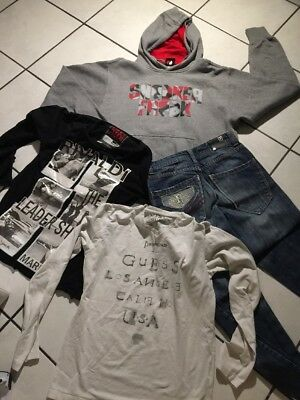 Lot Garcon 14.16 Ans Jean+Haut Rivaldi Top Guess   Sweat Foot Loocker