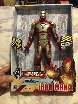 Avengers Iron Man 3 Arc Strike Iron Man Action Figure MIB Marvel Comics W// Sound