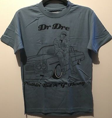 Dr Dre G Thang Small Blue Men's T Shirt New Official Death Row Records