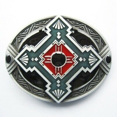 Native American Cross antique brushed silver removable BELT BUCKLE - BP126
