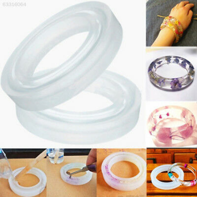 CA84 Silicone Round Mould Mold For Resin Curve Bangle Bracelet Jewelry Making DI