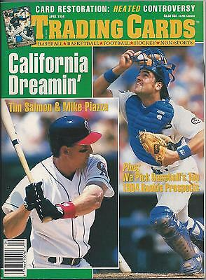 Trading Cards Issue #11 (April 1994) VF Tim Salmon, Mike Piazza, Brett Favre