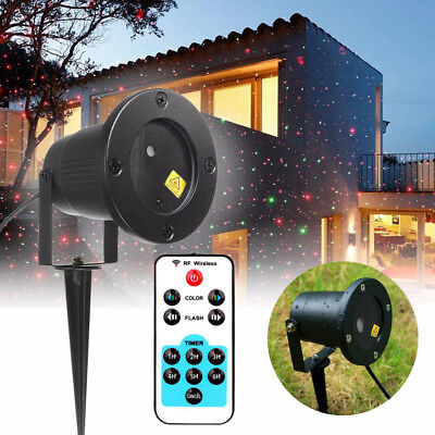 Moving Star LED Laser Fairy Light Projection Outdoor Projector Xmas Garden Decor